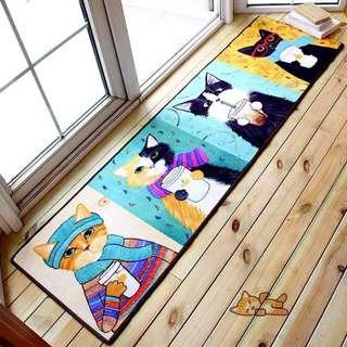 卡通 可愛 喵星人 客廳 臥室 玄關位 地毯 * 有現貨