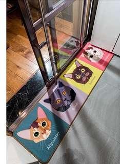 創意 個性 可愛貓咪頭像 廚房 睡房 梳化 窗台 露台 防滑 地毯 地氈 推廣價 $200 起