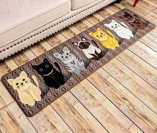創意 個性 可愛貓咪 廚房 睡房 梳化 窗台 露台 防滑 地毯 推廣價 $200起