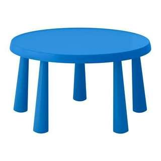Ikea Mammut Table(Blue) for Kid