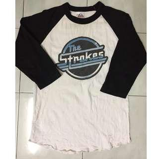 Baju Band The Strokes 3 Quarter Size M