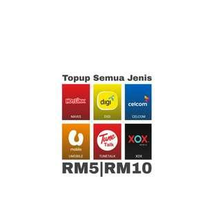 Celcom Maxis Digi Tunetalk Xox Instant Topup