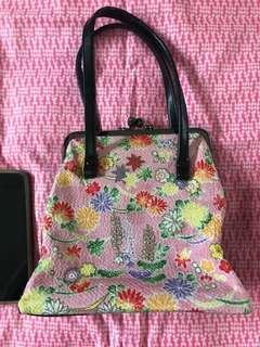 🚚 Kimono fabric Japanese handbag