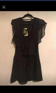 Bardot black ballet frill dress new with tags