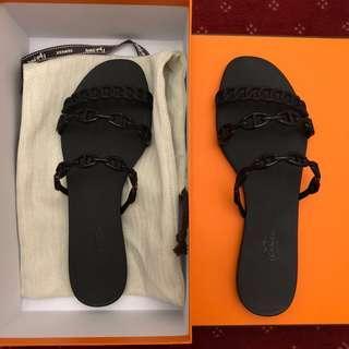 Hermes jelly sandals