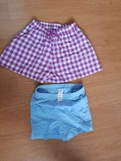 Uniqlo and carter shorts