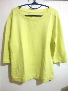 Sonoma Sweat Shirt Cotton Polyester Yellow Green (Sweatshirt Kaos Katun Poliester Kuning Hijau)