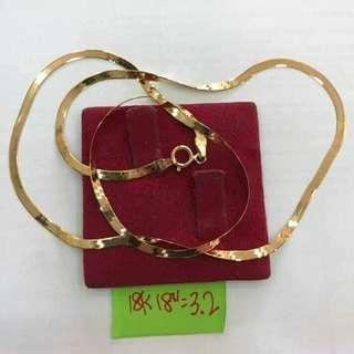 18k Sd gold Mirror chain
