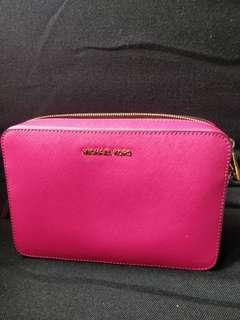 Michael kors pink saffiano leather camera bag