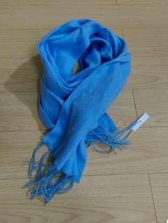 質感柔軟粉藍色頸巾 #sellfaster