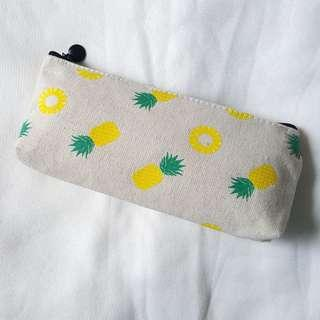 🚚 Pineapple Print Canvas Pencilcase / Pouch