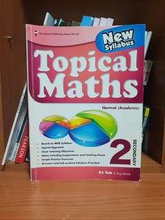 Secondary 2NA Topical Maths Assessment Book EPH