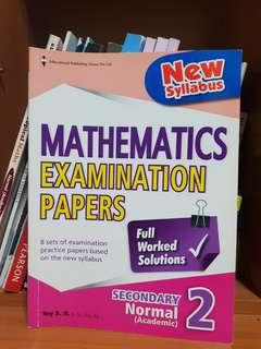 Secondary 2NA Mathematics Examination Papers Assessment Book  EPH