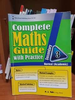 Sevondary 3NA Complete Maths Guide with Practice Assessment Book EPH
