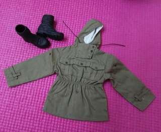 12吋 1/6 Toyscity Figure散件 WWII 二戰德軍山地兵風褸連登山短靴