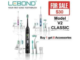 Promotion LEBOND Sonic Electric Toothbrush V2/Waterproof IPXS/Touch Screen/Rechargeable/