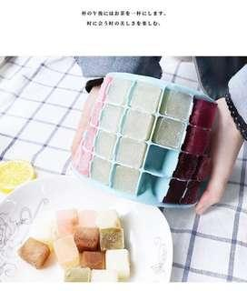Food Grade Silicon ice cube tray with cover
