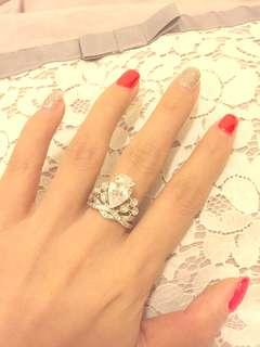 Angelababy wedding crystal ring 明星同款仿鑽石戒指