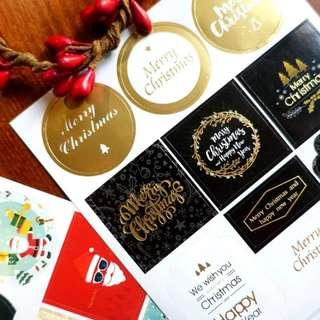 Christmas seal stickers