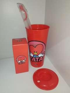 BT21 BTS CGV Tata Tumbler & Light