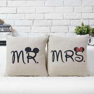 MR & MRS Cushion Cover Set