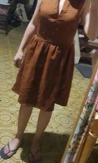 REPRICED!!!!! Brown Midi Dress from PHP250 now only PHP150