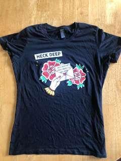 Neck Deep Merch Tshirt (M Ladies)