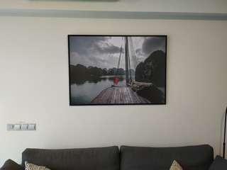 Halong bay print + glass frame