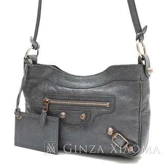 ed14a6adef15 BALENCIAGA Giant hip Shoulder bag leather gray 237203 Price cut 143172