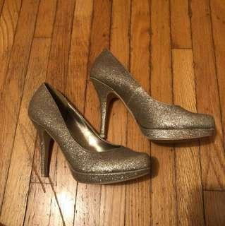 Call it spring glitter heels