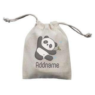 #1212 Personalised Animal Mini Accessories Drawstring Pouch