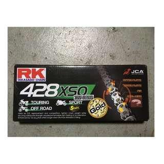 (庫存貨)RK 黃金油封鏈條GB428XSO ( 110 目 )