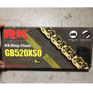 (庫存貨)RK 黃金油封鏈條GB520XSO ( 126目 )