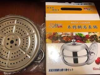 不銹鋼湯蒸鍋