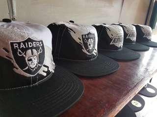 NFL Raiders Splash Snapback Cap Vintage Paintbrush Hat