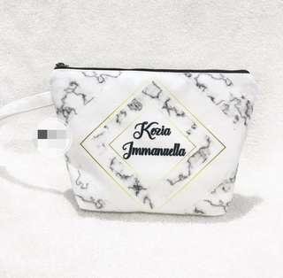 Pouch Personalised Name and quote