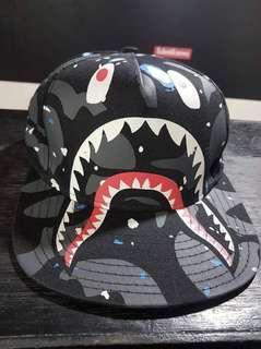 Bapeshark Galaxy Snapback Cap