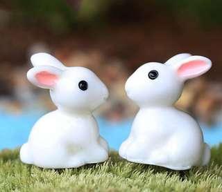 Terrarium Accessories / Terrarium Rabbit / Miniature Rabbit / Cute Rabbit / Cute Bunny Figurine / Gardening Decor