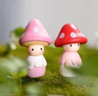 Terrarium Accessories / Terrarium Figurines / Terrarium Cute Mushroom Doll / Miniature Mushroom Doll