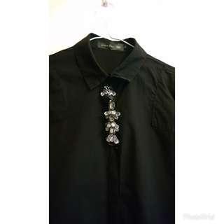 韓國製黑裇衫