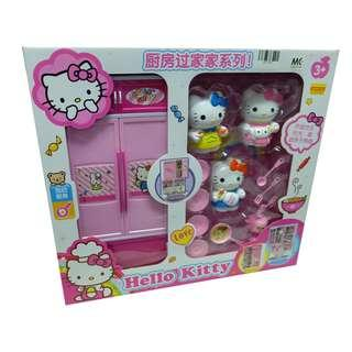 Hello Kitty 777-1 Cooking Series Kitchen Cabinet with Hello KItty Toys Set
