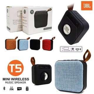 Speaker bluetooth mini jbl-T5 wireless music portabel dompet