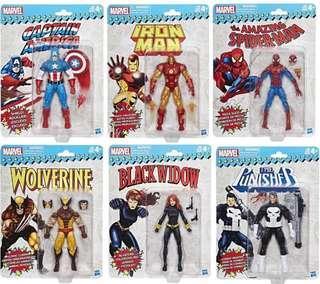 Marvel 6 inch Super Heroes Vintage Wave 1 Set