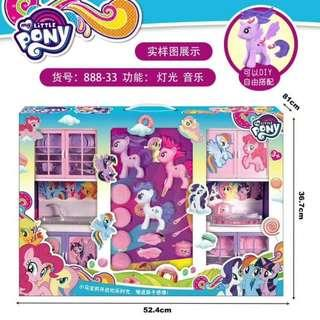 My Litter Pony 888-33 DIY Cooking Set Music With Light Litter Pony Toys Set