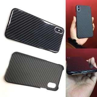 Iphone 6 7 8 X case carbon fiber