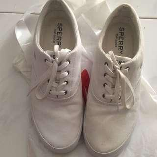 White Sperry Top Sider