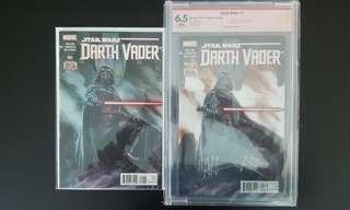 """🔥Hot Deal!🔥Star Wars Darth Vader #1, #1 CBCS 6.5 SS (2015 1st Series) Verified Signature By Cover Artist Adi Granov! The Original Dark Lord Of The Sith!""""One To Read, One To Keep"""" Series"""
