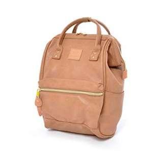 ANELLO PINK BEIGE LEATHER BACKPACK