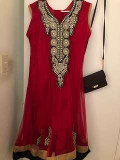 Cultural clothes red