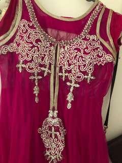 Cultural clothes magenta